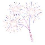Иллюстрация фейерверков d Стоковая Фотография RF