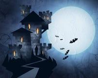 Иллюстрация хеллоуина замка Стоковое фото RF