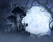 Иллюстрация хеллоуина замка Стоковые Изображения