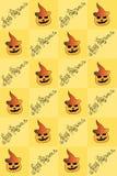 Иллюстрация хеллоуина Рисовать с тыквами картина безшовная счастливые праздники Стоковая Фотография