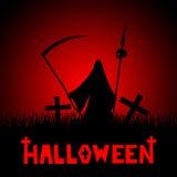 Иллюстрация хеллоуина - смерть иллюстрация вектора