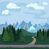 Иллюстрация цвета вектора - естественный ландшафт Стоковые Фото
