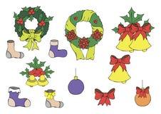 Иллюстрация цвета игрушек Нового Года Стоковые Фото