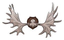 Иллюстрация цвета antlers лосей бесплатная иллюстрация