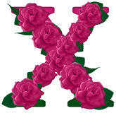 Иллюстрация цветка письма x милая Стоковое Изображение RF