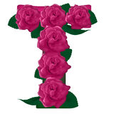 Иллюстрация цветка письма t милая Стоковое Изображение RF