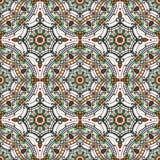 иллюстрация цветков зеленая выходит картине мандала безшовные тоны Орнамент Востока этнический покрашено бесплатная иллюстрация