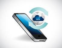 иллюстрация цикла телефона глобуса облака вычисляя иллюстрация штока