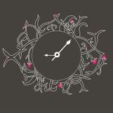 Иллюстрация часов o Стоковые Фотографии RF