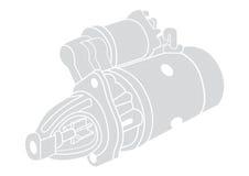 Иллюстрация части автомобиля Стоковое Изображение