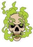 Иллюстрация черепа дыма Стоковая Фотография RF