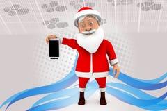иллюстрация черни santa человека 3d Стоковое Фото