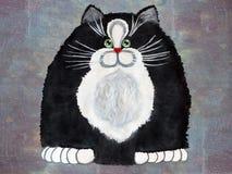 Иллюстрация: Черный кот Стоковое Изображение RF