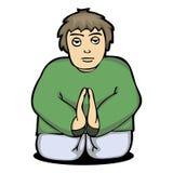 Иллюстрация человека молит к богу от Стоковое фото RF