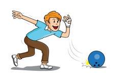 Иллюстрация человека спорта боулинга Стоковое Изображение