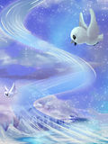 Иллюстрация: Чудесные красивые мелодии свободный летать настолько высоко в небо бесплатная иллюстрация