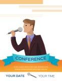 Иллюстрация шаблона конференции Стоковая Фотография