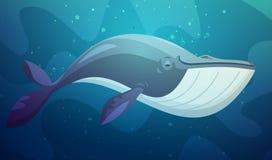 Иллюстрация шаржа больших рыб подводная ретро иллюстрация штока