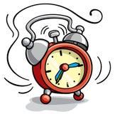 Иллюстрация шаржа будильника звеня Стоковое Изображение