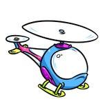 Иллюстрация шаржа вертолета ярких детей Стоковое Фото