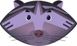 Иллюстрация шаржа енота Стоковая Фотография RF