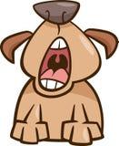 Иллюстрация шаржа зевка собаки Стоковая Фотография