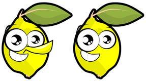 Иллюстрация шаржа изолированная лимоном Стоковое фото RF