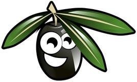Иллюстрация шаржа изолированная оливкой Стоковое Изображение RF