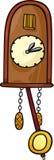 Иллюстрация шаржа искусства зажима часов с кукушкой Стоковые Фото