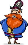 Иллюстрация шаржа капитана пирата Стоковые Изображения