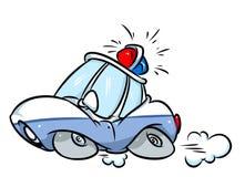 Иллюстрация шаржа Мультяшки полицейской машины Стоковые Фото