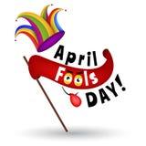 Иллюстрация шаржа дня дурачков в апреле Стоковые Изображения RF