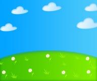 Иллюстрация шаржа предпосылки лета Стоковые Изображения