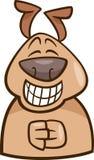 Иллюстрация шаржа собаки настроения зеленая Стоковое Изображение