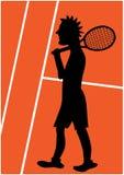 Иллюстрация шаржа теннисиста Стоковое Изображение RF