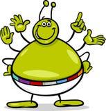 Иллюстрация шаржа характера чужеземца Стоковое Изображение RF