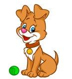 Иллюстрация шаржа щенка Стоковое Изображение RF