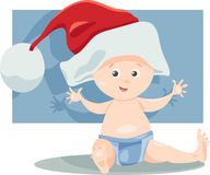 Иллюстрация шаржа santa ребёнка Стоковые Фото