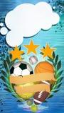 иллюстрация шариков предпосылки 3d представила спорт Стоковые Фото