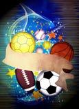 иллюстрация шариков предпосылки 3d представила спорт Стоковое фото RF