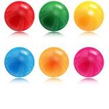 Иллюстрация шариков различного цвета Стоковое Изображение