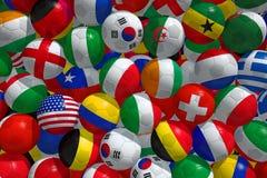 иллюстрация шариков 3d представила футбол Стоковое Изображение