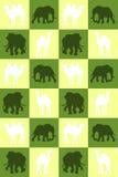 иллюстрация Шахматная доска с верблюдами и слонами Безшовная картина Стоковое Изображение