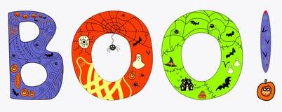 Иллюстрация ШИКАНЬЯ хеллоуина Стоковые Фотографии RF