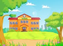 Иллюстрация школьного здания Стоковые Изображения RF