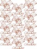 иллюстрация Шоколады с клубниками Для вас Стоковое Изображение