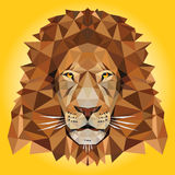 Иллюстрация льва низкая поли Стоковое Изображение