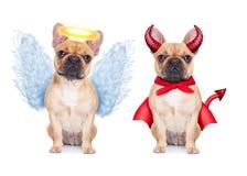 иллюстрация дьявола предпосылки ангела изолировала белизну вектора влюбленности Стоковое Фото