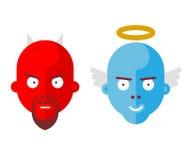 иллюстрация дьявола предпосылки ангела изолировала белизну вектора влюбленности Стоковое фото RF