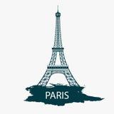 Иллюстрация Эйфелевой башни Парижа Стоковые Фотографии RF
